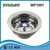 Filtro da cesta do dissipador do filtro do dreno de dissipador da cozinha do aço inoxidável para a bacia (WF1001)
