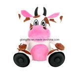 Brinquedos preto e branco da vaca do luxuoso com nariz grande