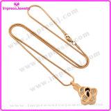 Halsbanden voor de Tegenhanger van de Klaver van het Gouden Plateren van de As met Kristallen Ijd9641