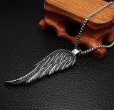 Het Roestvrij staal van de Tegenhanger van de Halsband van de Vrouwen & van de Mannen van de Vleugels van de veer 316L