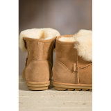 숙녀를 위한 온난한 겨울 양가죽 발목 시동