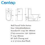 Sanitaryware Badezimmer-Wand stellte keramische zweiteilige Toilette gegenüber