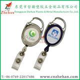 Heißer Verkauf Soem-Plastikmetallname Identifikation-einziehbarer Abzeichen-Halter für Geschenke