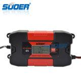 Cargador de batería recargable rápido elegante de Suoer 12V 4A con la función del adaptador (DC-W1204)