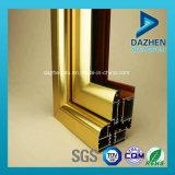 Personalizado 6063 de aluminio de extrusión de perfil con diferentes colores para puerta de la ventana
