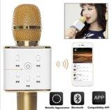 BluetoothのマイクロフォンのスピーカーのカラオケKTVの無線Q7マイクロフォン