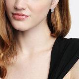 Nuevos pendientes del aro de moda de lujo de cristal doble de la fila del Rhinestone de Huggie