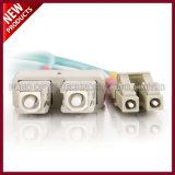LC UPC aan Optische Verbindingsdraden van Multimode Vezel LSZH van Sc UPC de Simplex of Duplex 2.0mm 10G OM3