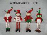 """26 """" h Санта, снеговик и эльф с длиннее Legged, украшение Asst-Рождества 3"""