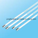 7.0X445mm Strichleiter-multi Widerhaken-Verschluss-Typ SS-Kabelbinder mit Beschichtung