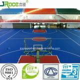 Cancha de baloncesto del medio ambiente material de usar sobre Deporte de superficie