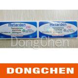 Medicina feita sob encomenda da impressão que empacota a etiqueta do tubo de ensaio 10ml para esteróides