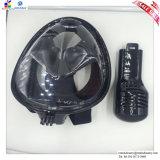 Masque naviguant au schnorchel de respiration facile de pleine face avec le support pour l'adulte
