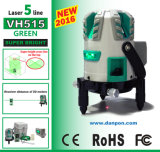 Líneas de la viga cinco del verde de la herramienta del nivel del laser de Rorating de 360 grados con la batería móvil de la potencia