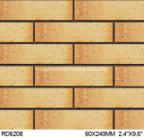 Exterior Wall Brick 60*240mm Rd6208のための粘土Split Tile