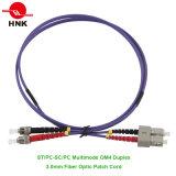 Koord van het Flard van Vezel 50 van LC/Sc/FC/St PC/Upc/APC het Simplex Duplex Multimode Om4 Optische
