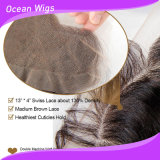 Quercy Hair Lace Frontal Grade 8A 100%年のUnprocessed Body WaveインドのVirgin Human Hair Lace Frontal Piece 13*4 Full Lace Frontal Closures (F-001)