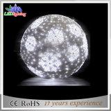 Luz artificial grande branca da esfera do diodo emissor de luz da decoração ao ar livre do jardim
