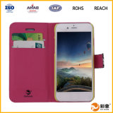 Plutônio universal Leather Smart Phone Wallet Caso para o iPhone 6 Credit Card Caso com Stand
