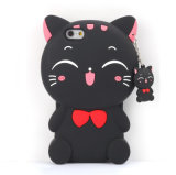 SamsungギャラクシーJ1 J5 J7 (XSDW-074)のための赤い頬猫の携帯電話の箱を目を凝らす吊り下げ式のタイ