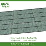 Hoja de acero coloreada de la azotea con la piedra cubierta (azulejo de la ripia)