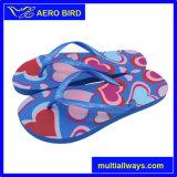 PE flip flops con color sólido único y sexy impresión