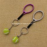 卸し売り安いカスタムプラスチックテニスラケットのキーKeychain