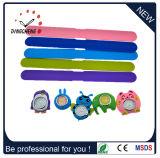 El reloj lindo colorido del silicón de los niños de la palmada de los surtidores de China del reloj único de la venda embroma el reloj de la palmada