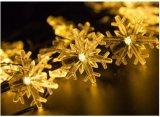 クリスマスの結婚式新し年の太陽エネルギー20LEDストリング少しの雪