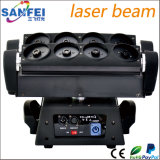 Luz movente do raio laser da aranha dos olhos da cabeça 8 do RGB