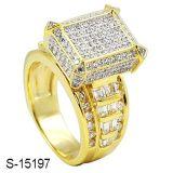 Ring van de Diamant van Juwelen 925 van de fabriek de In het groot Echte Zilveren