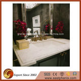 Branco/preto/verde/parte superior azul/bege da vaidade de quartzo/mármore/granito para a cozinha/banheiro/hotel