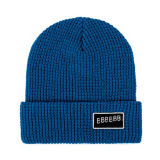 Leather Logoの冬Hot Sale Smart Casual Wool Woven Beanie Hat