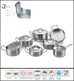 すべての覆われたステンレス鋼の水のない調理器具