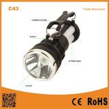 C43 batería de plomo-ácido portátil al aire libre que carga la lámpara solar que acampa