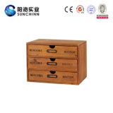 Деревянный шкаф хранения с 3 ящиками