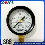 """"""" calibrador de presión general de la caja de acero negra 40mm/1.5"""