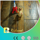Geriebener V-Grooved lamellierter Bodenbelag der Werbungs-12.3mm HDF AC4 Hand