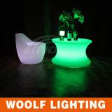 LEDのコーヒーテーブルを変更するPEプラスチックRGBのカラー