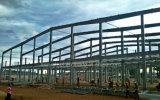 Fundación de la estructura de acero con el tornillo de ancla y la placa de la posición