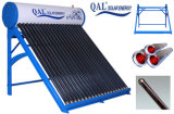 2015 não calefatores de água solares de aço da cor da pressão