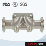 Soupape à diaphragme hygiénique à trois voies d'acier inoxydable (JN-DV1020)