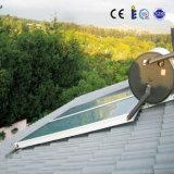 Schwarzes chromierter Flachbildschirm-Solarwarmwasserbereiter