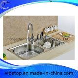 Lavabo d'acier inoxydable de cuisine par le constructeur de la Chine