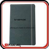 Calidad de Hight bordado logotipo Denim Notebook