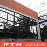 販売のためのプレハブのうまく設計された鉄骨構造の研修会
