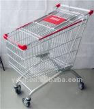 Chariot européen de vente chaud à achats de supermarché d'épicerie en métal