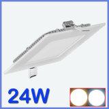 indicatore luminoso di comitato di 24W LED, indicatore luminoso di comitato caldo di vendita LED, indicatore luminoso di comitato quadrato del LED