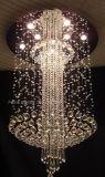 Phine gute dekorative große moderne K9 Kristalldeckenleuchte