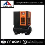 Prix de vente entier du compresseur d'air rotatoire monté par réservoir de vis 5.5kw-15kw